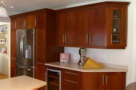 Inspiring Kitchen Modern Cherry Cabinets Decorating Clear