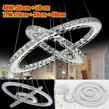 led kristall pendelleuchte kronleuchter hängele deckenleuchte deckenle dimmbar für wohnzimmer restaurant 48w