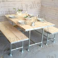 Tabel And Bench Design Idea Made From Key Clamp Scaffold