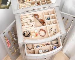 Natalie Jewelry Armoire ~ Silver Leaf   Hives And Honey Belham Living Lighted Wall Mount Locking Jewelry Armoire Morgan Dark Walnut Hives And Honey Standing With Mirror White Clothes Storage Florence Oak Heritage Cheval Walmartcom Top Black Options Reviews World Harper Driftwood Hayneedle Shop For The Madison Gray Wash At Natalie Silver Leaf Ava Mirrored