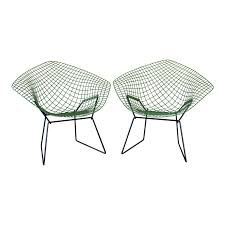 100 1960 Vintage Metal Outdoor Chairs S Harry Bertoia For Knoll Diamond A Pair Chairish