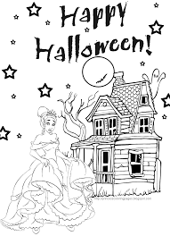 PRINCESS COLORING Halloween Coloring Pages
