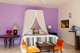 doppelbett mit baldachin und bild kaufen 11128363