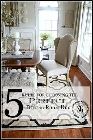 Standard Round Dining Room Table Dimensions by 5 Rules For Choosing The Perfect Dining Room Rug Stonegable