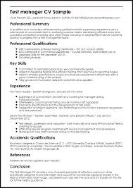 Software Test Lead Resume Manager Sample Objective
