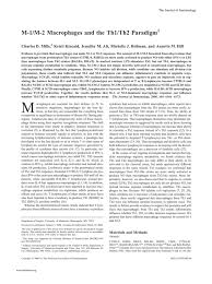 Pillars Article M 1 M 2 Macrophages and the Th1 Th2 Paradigm J