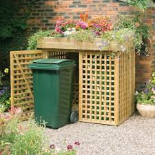 Double Wheelie Bin Store With Planter By Kanny