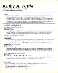 Recent College Graduate Resume For Samples