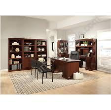 Shoal Creek Desk In Jamocha Wood by Sauder Shoal Creek Executive Desk With Hutch Best Home Furniture