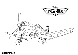 Disney Planes Skipper Coloring Pages