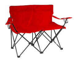 Loveseat Style Double Camp Chair With Steel Frame By Trademark Innovations  (Red, 31.5
