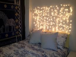 Hanging Wall String Twinkle Lights In Bedroom Over Headboard Ideas