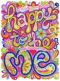 Happy To Be Me Coloring Page From Thaneeya McArdles Good Vibes Book
