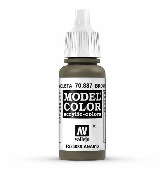 Vallejo Paint Model Color Acrylic Paint - 17ml, Brown Violet