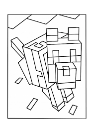 Wolves Minecraft Coloring Pages