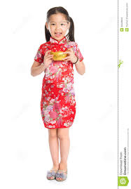 chinese holding a gold ingot royalty free stock images