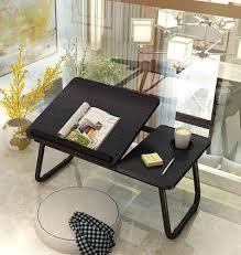 areout klapptisch faltbare laptoptisch fürs bett notebooktisch lapdesks für lesen oder frühstücks mit getränkehalter