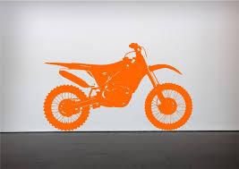 crosser motocross bike wall sticker bedroom stencil transfer