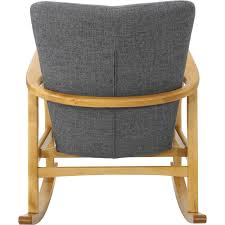 Noble House - Peabody Rocking Chair - Gray/Light Walnut