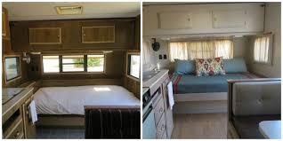 1988 Trailer Renovation Makeover Bed Before And After