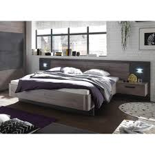 22 510 n9 palma havel eiche nb betonoxid grau bett doppelbett ehebett bettanlage inkl 2 nachtkommode ca 180 x 200 cm liegefläche