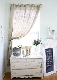 White Cotton Kitchen Curtains by Attractive White Burlap Curtains And Simple Sheer Lineate White