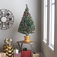 Unlit Christmas Tree by Sparkle White Unlit Christmas Tree With Metal Stand Christmas