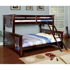 Queen Size Loft Bed Plans by Shop Furniture Of America Spring Creek Dark Walnut Twin Over Queen