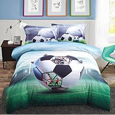 Soccer Themed Bedroom Photography by Amazon Com Alicemall 3d Boys Bedding Sets Full Soccer Ball