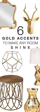 6 Gold Accents To Make Any Room Shine