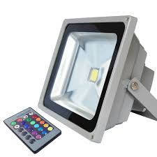 30w outdoor rgb led flood light with 24 key ir remote torchstar