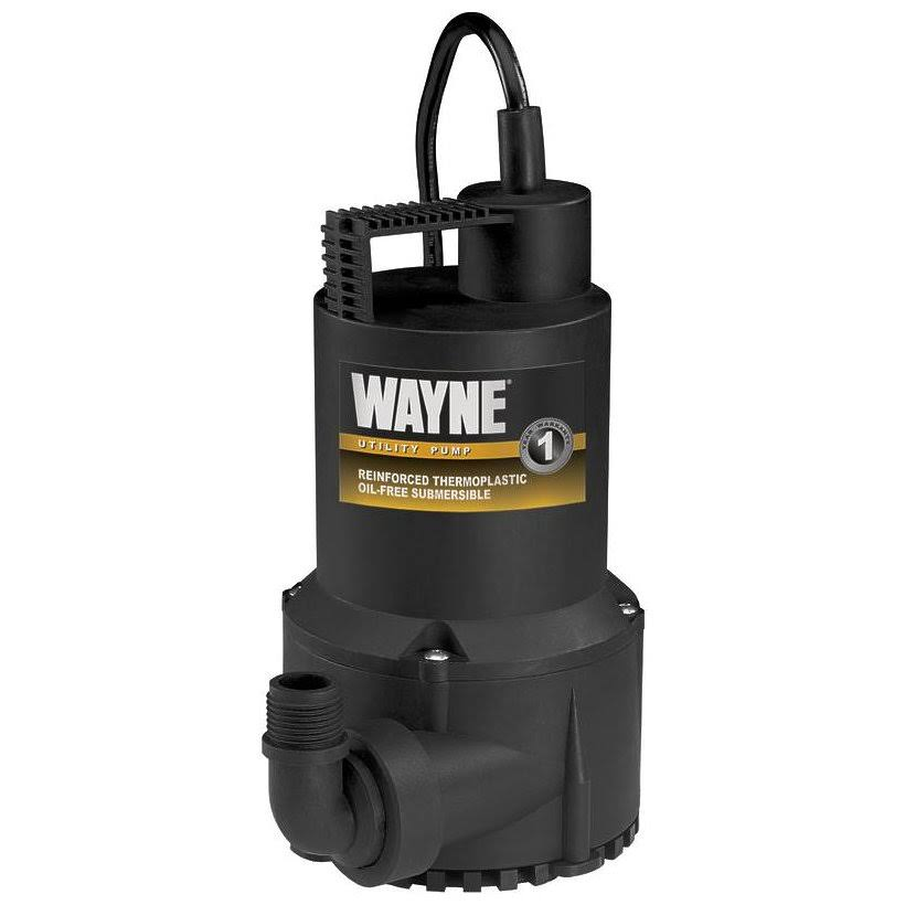 Wayne Rup160 Oil Free Submersible Multi-Purpose Water Pump - 1/6 HP