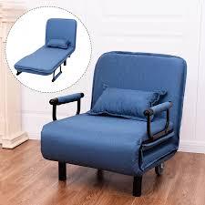 giantex cabrio sofa bett moderne folding arm stuhl sleeper freizeit liege wohnzimmer lounge möbel hw54759bl
