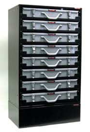Craftline Storage Systems 8 Drawer Service Tray Rack Cabinet In ...