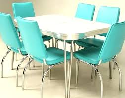 Retro Dining Table Set Kitchen Chairs Sets Room Vintage Furniture