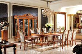 Long Dining Table 1 Solid Wood Luxury Antique Set Furniture For