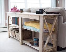 Alluring Diy Sofa Table Ideas 21 Arm Modern Farmhouse Incredible Ana White Rustic X Console Tables Projects Hall Cream Painted Canada Weathered Wood With