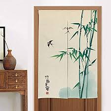 myru küchen vorhang schlafzimmer vorhang noren bambus japanischer vorhang feng shui türvorhang aus bambus 84 4 x 140 9 cm