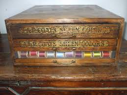antique j p coats sewing spool cabinet ebay spool cabinet