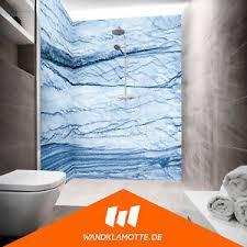 details zu eck duschrückwand zwei platten alu bad dusche wand salzberg blau