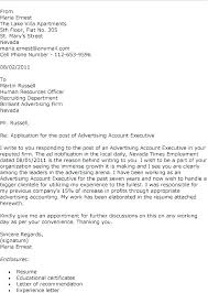 Agency Cover Letter Ad Executive Advertising Resume Fresh Creative