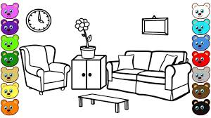 Learn Colors For Children With Living Room