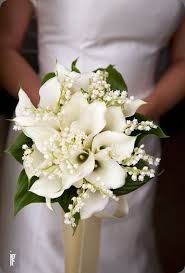 Callas and lily of the valley bouquet Found on Botanical brouhaha