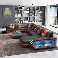 vatar moderne wohnmöbel luxus leder wohnzimmer sofa