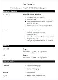 It Job Resume Format Basic Template For Seekers Teaching Doc Resumes Of