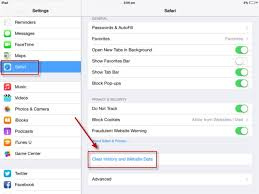 How to clear Safari history on iPad