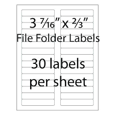 Avery File Folder Label Template Templates For Excel Labels 3 7 X 2