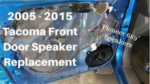 2005 - 2015 Toyota Tacoma Front Door Speaker Install Pioneer 6x9 ...