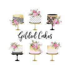 Cake Clipart Gold Foil Cake Clipart Shabby Chic Clipart wedding clipart birthday cake clipart gold foil baby shower wedding invitation