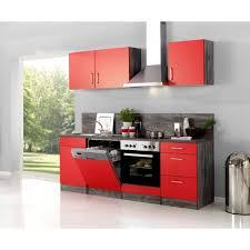 küchenzeile sevilla küche mit e geräten breite 220 cm rot samtmatt eiche vintage